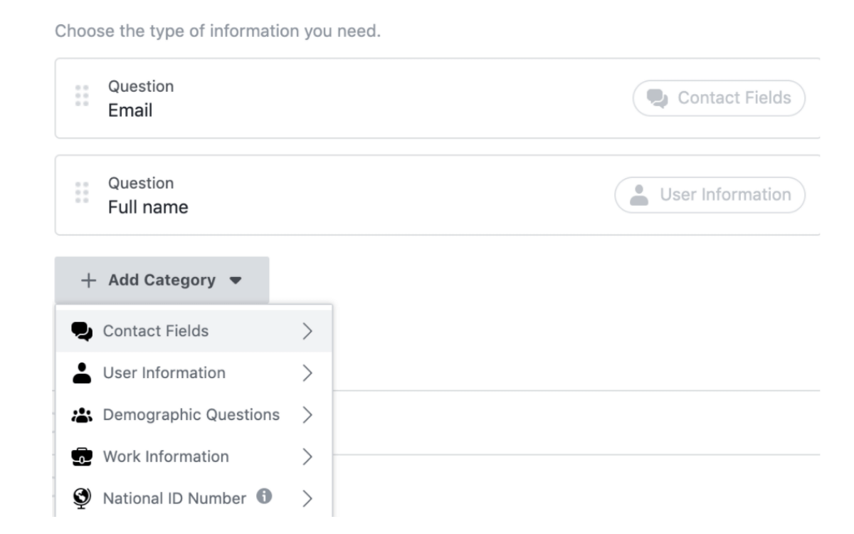 facebook lead generation form for gym marketing