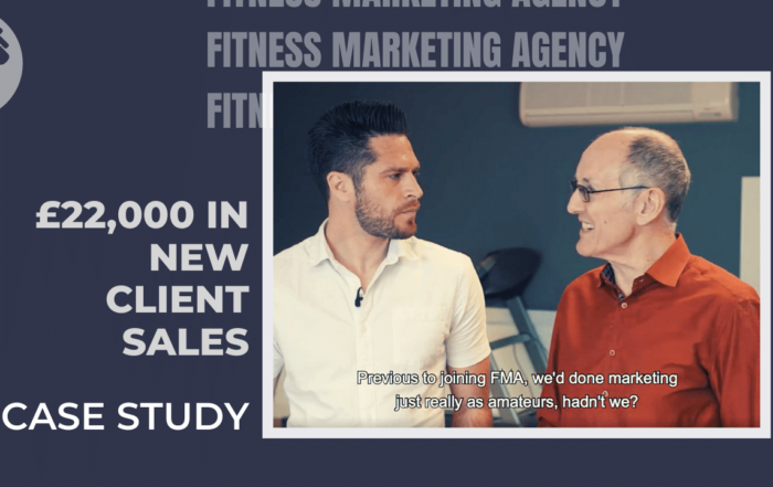 £22,000 in new client sales fitness marketing case study